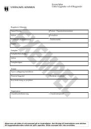 Kontrollplan Enkla byggnader och tillbyggnader