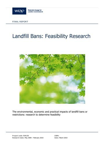 Landfill Bans: Feasibility Research - Wrap