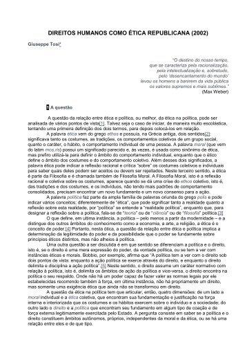 direitos humanos como ética republicana - Empreende.org.br