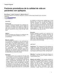 Factores pronósticos de la calidad de vida en pacientes con epilepsia
