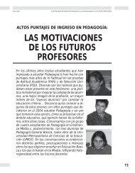 Las motivaciones de los futuros profesores - Revista Docencia