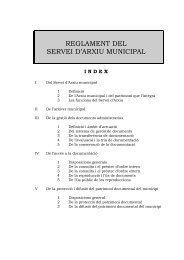REGLAMENT DEL SERVEI D'ARXIU MUNICIPAL - Ajuntament de ...