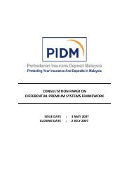 Consultation Paper on Differential Premium Systems ... - PIDM