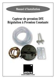 Capteur de pression DFE Régulation à Pression Constante - Aldes