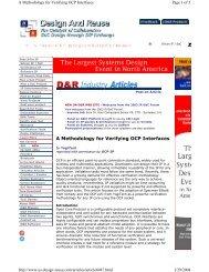 A Methodology for Verifying OCP Interfaces - OCP-IP