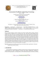 Assessment Feedback supporting E-learning - Riviste