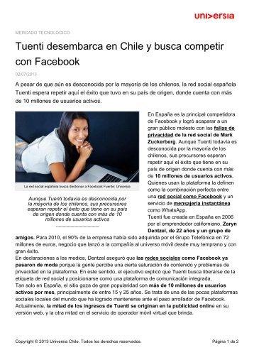 Tuenti desembarca en Chile y busca competir con Facebook
