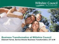 Plenary 3 Business Transformation Wiltshire - South West Councils