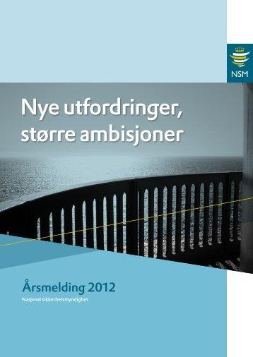 Årsmelding for 2012 - NSM