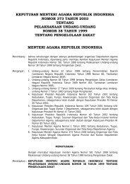 KMA No. 373 Tahun 2003 Tentang Pengelolaan ... - Kemenag Sultra