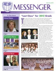 Summer 2012 Messenger - Mount St. Mary Academy - Website