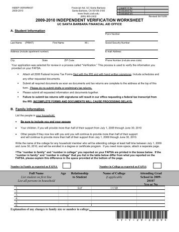 Worksheets Verification Worksheet Fafsa fafsa independent verification worksheet templates and worksheets form fillable printable samples for pdf word