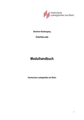 Modulhandbuch - Hochschule Ludwigshafen am Rhein