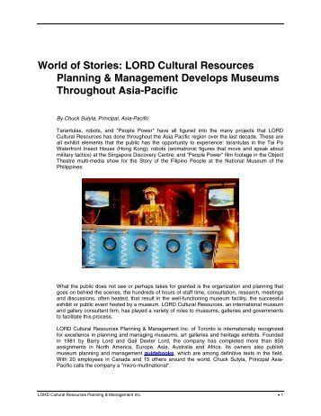 World of Stories: LORD Cultural Resources Planning ...