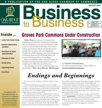 Business - Oak Ridge Chamber of Commerce