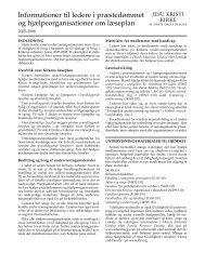 Informationer til ledere i præstedømmet og hjælpeorganisationer om ...