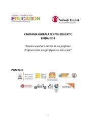 Pachet informatii pentru scoli - Salvati Copiii