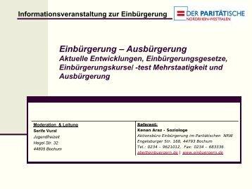 Eine Präsentation der Informationsveranstaltung in Bochum Gerthe