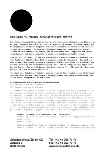 07 März_Communiqué - Junges Schauspielhaus Zürich