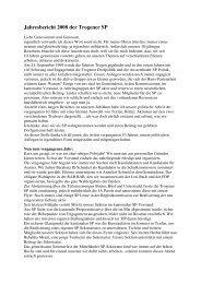 Jahresbericht 2008 der Trogener SP - SP Appenzell Ausserrhoden