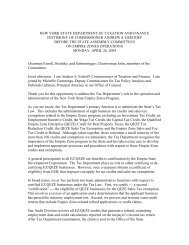 new york state department of taxation and finance testimony