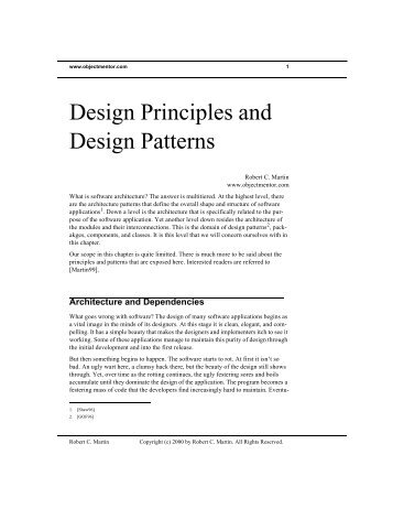 Design Principles and Design Patterns - Object Mentor