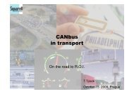 CANbus in transport