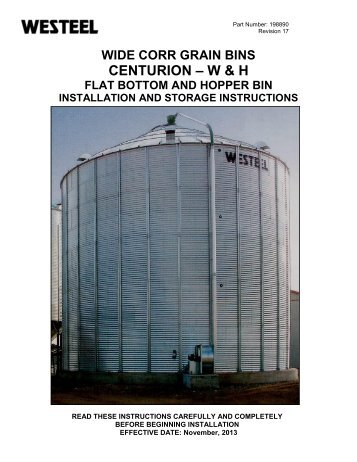 198890 Centurion W INSTALLATION INSTRUCTIONS.pdf - Westeel