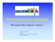 slide show - Bioinformatics and Research Computing