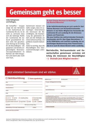 Gemeinsam geht es besser - Schaeffler-Nachrichten der IG Metall ...