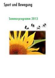 Sommerprogramm 2013 - Pro Senectute Valais
