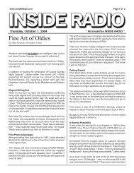 Personalities INSIDE RADIO