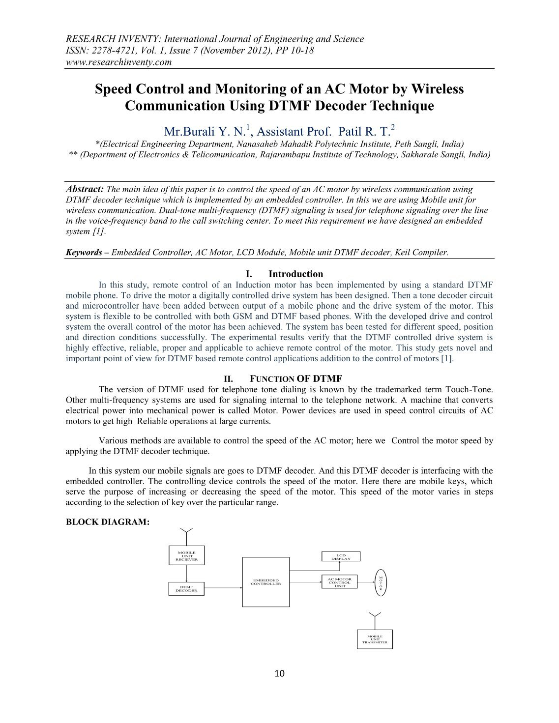 160 Free Magazines From Researchinventycom Dtmf Decoder Circuit Diagram