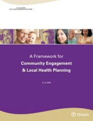 A Framework for Community Engagement & Local Health Planning