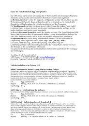 Kurse der Volkshochschule Egg im September Die VHS in Egg ...