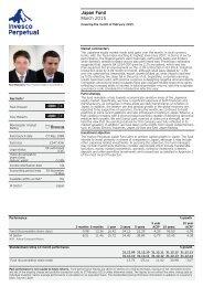 Invesco Perpetual Japan Fund Factsheet