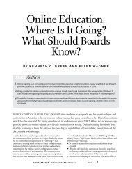 online education: Where is it Going? What Should Boards ... - WICHE