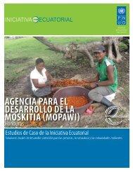 agencia para el desarrollo de la moskitia (mopawi) - Equator Initiative