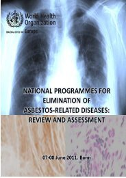 National programmes for elimination of asbestos - World Health ...