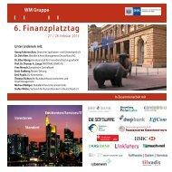 WM Seminare - Finanzplatztag