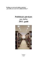 2011. gads - Kuldīgas Galvenā bibliotēka