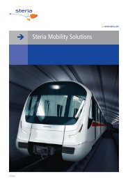 Mobility solutions for logistics, transport, healthcare and ... - Steria
