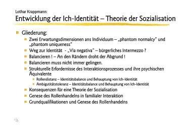 Lothar Krappmann: Ich-Identität - Ploecher.de