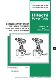 CORDLESS IMPACT DRIVER Model WH 18DMR - Hitachi