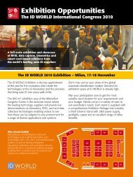 2011 Exhibition Opps - ID WORLD International Congress