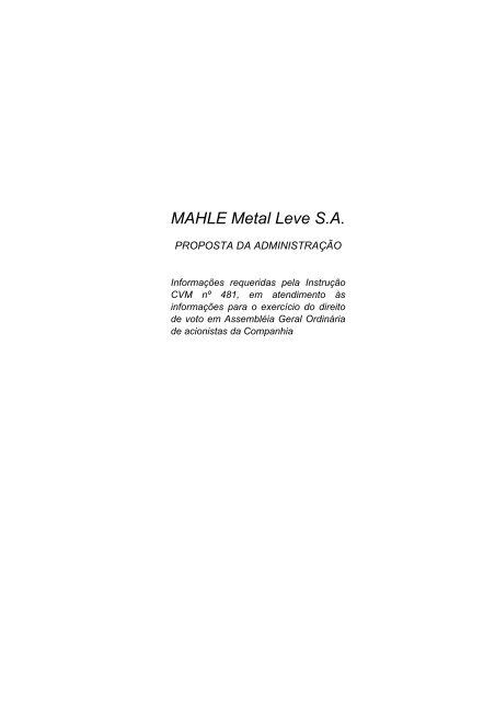 MAHLE Metal Leve S.A.