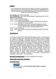Raport eveniment de lansare - ITIM