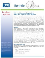 DOL Fee Disclosure Regulations - USI Consulting Group