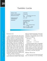 Tumbler Locks - Dc Msme