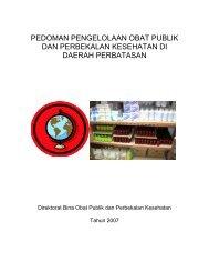 pedoman pengelolaan obat publik dan perbekalan kesehatan di